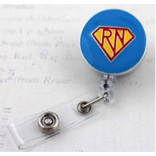 Enameled Super Hero RN Retractable Badge Holder