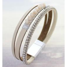 Blush Multi Band Wrap Bracelet