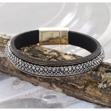 Black Crystal Accent Bracelet