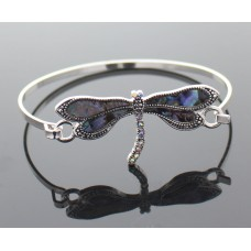 Silver And Abalone Dragonfly Bracelet
