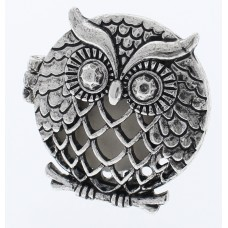 Silver Large Owl Oil Diffusing Car Vent Clip