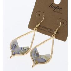 Teardrop Acrylic Swirl Earrings - Multi