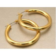 30mm Hoop Earrings - Gold