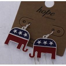 Republican Party Elephant Earrings