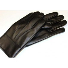 Men's Black Leather Like Gloves
