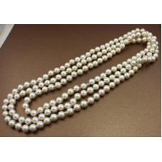 """Necklace-60""""-Pearls"""