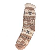 Women's Snowflake Slipper Socks - Light Rose