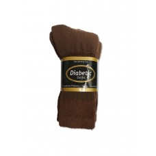 Men's 3-Pack Brown Diabetic Socks (Size 10-13)
