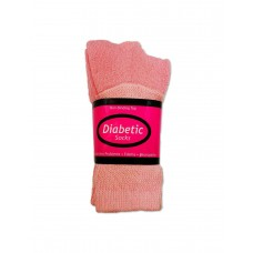 Women's 3-Pack Pink Diabetic Socks (Size 9-11)