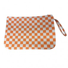 Large Checker Cosmetic Bag