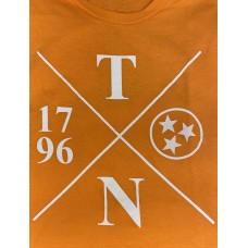 Orange And White Tennessee Tri-Star Shirt - Small