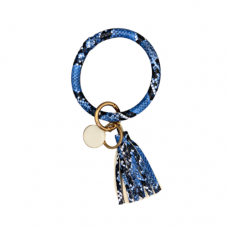 Key Ring Bracelet - Snake Blue