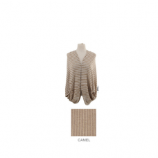 Striped Shrug - Camel