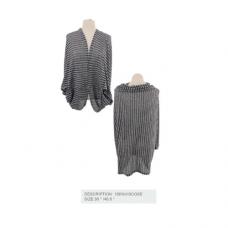 Striped Shrug - Gray