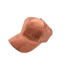 Velvet Baseball Hat -Pink