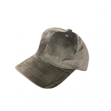 Velvet Baseball Hat -Gray
