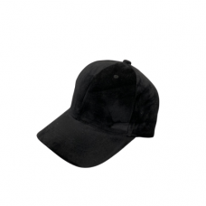 Velvet Baseball Hat -Black