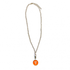 Officially Licensed Tennessee Crystal Necklace with Enamel Pendant