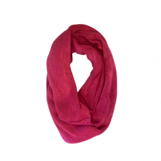 Solid Knit Infinity Scarf - Magenta