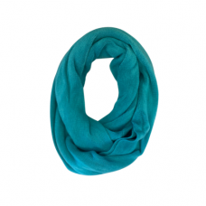 Solid Knit Infinity Scarf - Turquoise