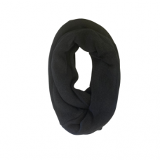 Solid Knit Infinity Scarf - Black