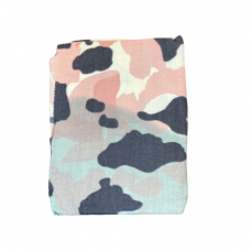 Pink and Gray Camouflage Scarf