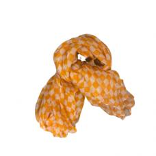 Orange And White Checkered Scarf