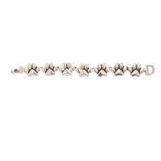 Silver Paw Magnetic Bracelet