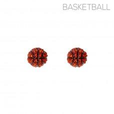 Bling Basketball Stud Earrings