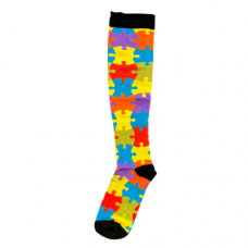 Women's Puzzle Piece Printed Compression Sock