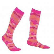 Women's Pink Camo Printed Compression Sock