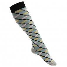 Women's Gray Geometric Printed Compression Sock
