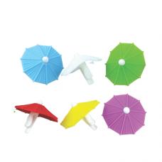 6 pc Clip and Sip Silicone Umbrella Drink Markers