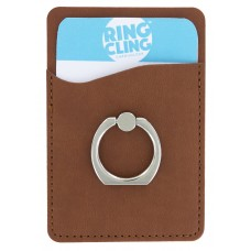 Card Cling Ring Holder - Brown