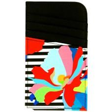 Scan Safe® Card Case - Black Stripe Floral