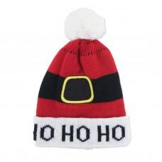 Children's Holiday Knitted Hat - Ho Ho Ho