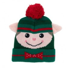 Children's Holiday Knitted Hat - Elf
