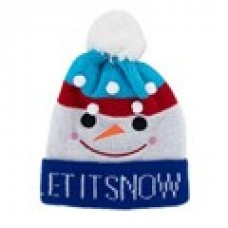 Children's Holiday Knitted Hat - Let it Snow