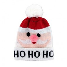 Children's Holiday Knitted Hat - Santa