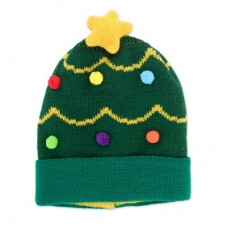 Children's Holiday Knitted Hat - Tree