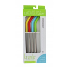 4 PC Stainless Steel Drinking Straws
