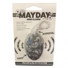 Mayday Mini Alarm Keychain - Gray Leaves