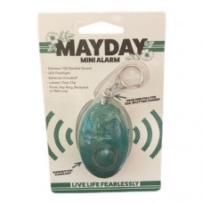 Mayday Mini Alarm Keychain - Green Dot