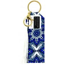 Lipstick/Lip Balm Holder Keychain - Blue Starburst
