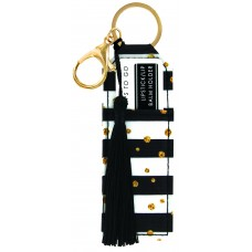 Lipstick/Lip Balm Holder Keychain - Stripes