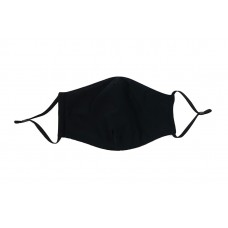 Adult Cloth Reusable Mask - Solid Black
