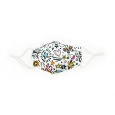 Children's Cloth Reusable Mask - Doodles