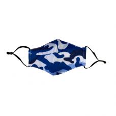 Children's Cloth Reusable Mask - Blue Camo