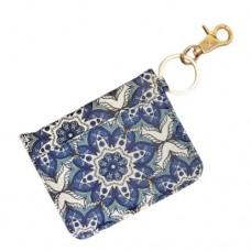 ID Wallet Keychain - Blue Starburst