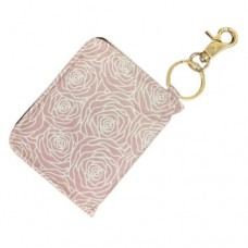 ID Wallet Keychain - White/Pink Flowers